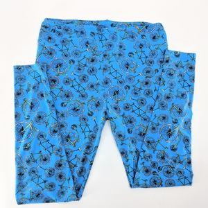 LuLaRoe Blue Bicycle Print Leggings